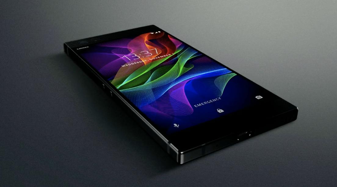 Razer Phone on kulmikkaasti muotoiltu.