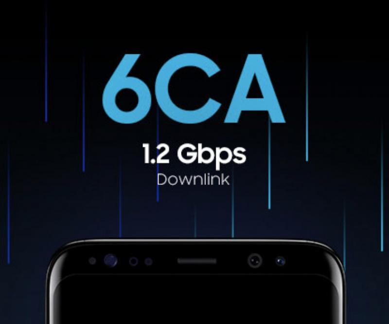Samsungin järjestelmäpiiri sisältää 1,2 gigabin 4G LTE -yhteyksiin pystyvän modeemin.