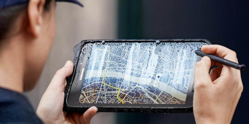 Galaxy Tab Active2 on vedenkestävä.