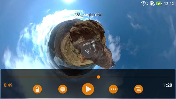 VLC tukee nyt 360 asteen videoita.