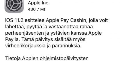 Vaikka suomenkielisissäkin julkaisutiedoissa kerrotaan Apple Pay Cashista, on se tulossa toistaiseksi käyttöön vain Yhdysvalloissa.