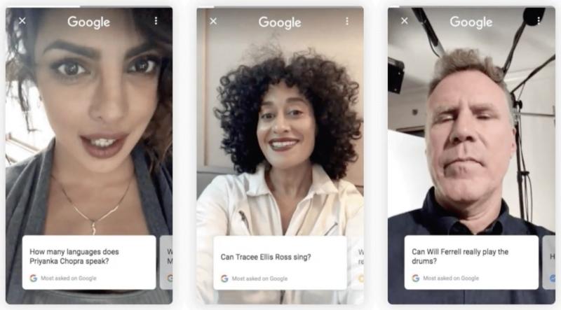 Google julkkikset selfie videot vastaukset