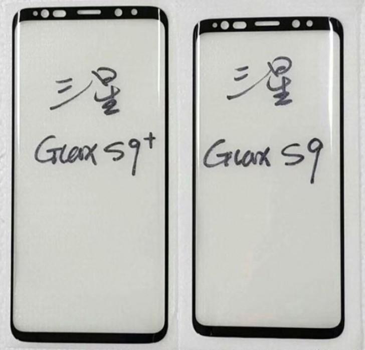 Galaxy S9+:n ja Galaxy S9:n etupaneelit.