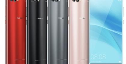 Huawei Nova 2S:n eri värivaihtoehdot.