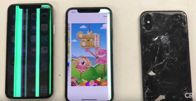 iPhone X sai kovaa kyytiä Consumer Reportsin testissä.