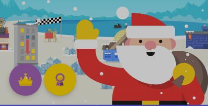 Joulupukin jäljitin Googlelta.