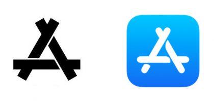 Konin logo ja Applen App Store -kuvake.