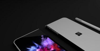 Microsoftin huhuttu uusi taittuva mobiililaite huhujen perusteella luoduissa konseptikuvissa.