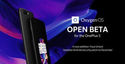 OnePlus 5:n Open Beta 3 tuo kasvojentunnistuksen.