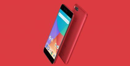 Xiaomi Mi A1 punaisena värivaihtoehtona.