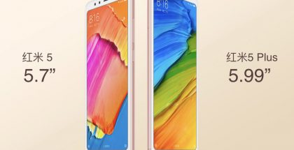 Xiaomi Redmi 5 ja Redmi 5 Plus.
