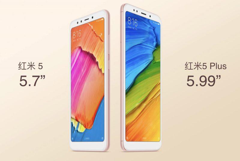 Xiaomi Redmi 5 ja Redmi 5 Plus.