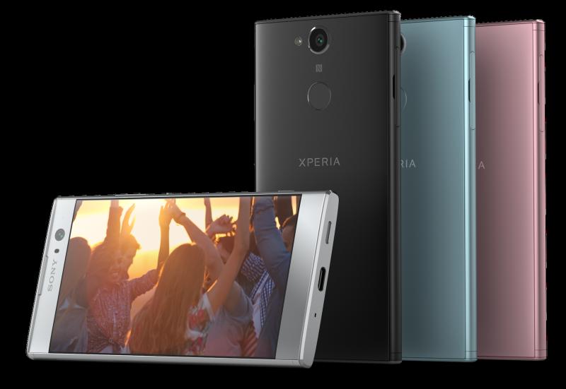 Sony Xperia XA2:n eri värivaihtoehdot.