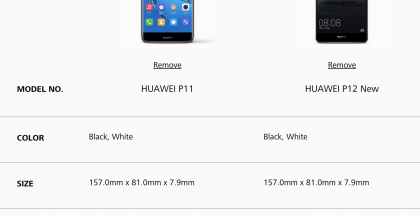 Huawei P11 ja P12 -nimet vilahtavat jo Huawein sivuilla. Todellisia tietoja niistä ei kuitenkaan vielä kerrota.