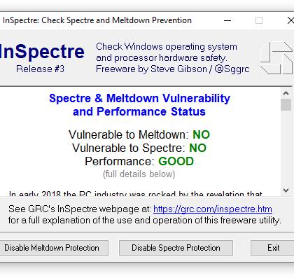 Uusi työkalu julkaistu: tällä tarkistat helposti onko tietokoneesi haavoittuvainen Meltdownille ja Spectrelle
