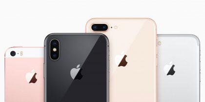 iPhone SE, iPhone X, iPhone 8 Plus, iPhone 7.