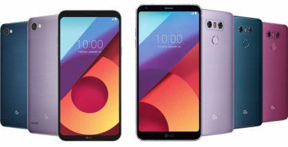 LG Q6:n ja G6:n uudet värit.