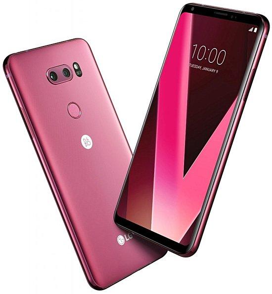 LG V30:n uusi Raspberry Rose -värivaihtoehto.