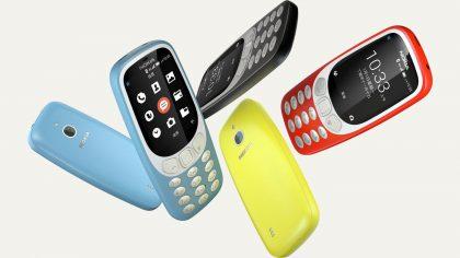 Nokia 3310 4G:n värivaihtoehdot.