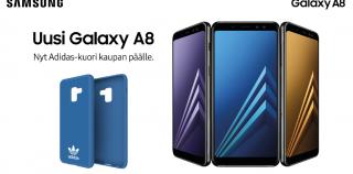 Samsung Galaxy A8 (2018) myyntiin Suomessa tänään – vielä hetken tarjolla Adidas-kuoret kaupan päälle