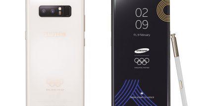 Samsung Galaxy Note8:n olympialaiserikoisversio.