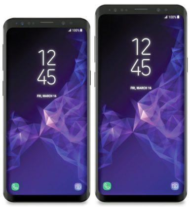 Samsung Galaxy S9 ja S9+, Evan Blassin aiemmin vuotama kuva.