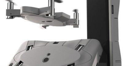 Selfly muuntuu puhelimen suojakuoresta lentäväksi droneksi.