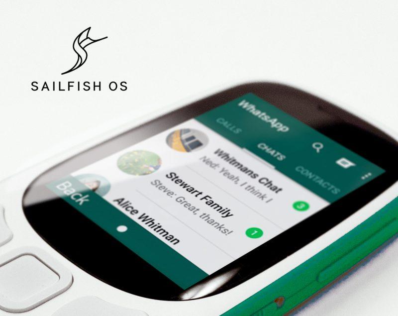 Sailfish 3 sopii myös peruspuhelimiin.