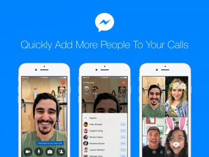 Facebook helpottaa osallistujien lisäämistä ääni- ja videopuheluihin.