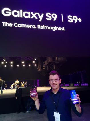 Mark Notton ja uudet Galaxy S9 -puhelimet.