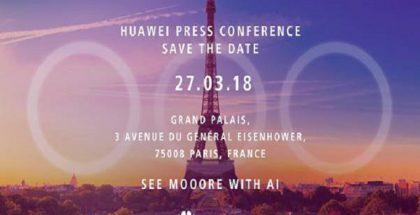 Huawein kutsukuva tilaisuuteen 27. maaliskuuta vihjaa kolmesta takakamerasta.