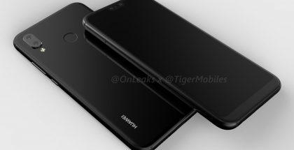 Huawei P20 Liten design OnLeaksin eli Steve Hemmerstofferin eli OnLeaksin julkaisemassa kuvassa.