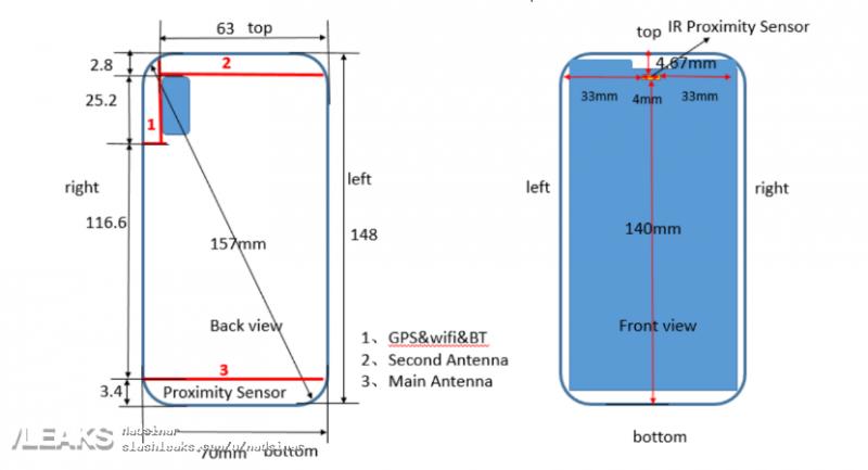 ANE-LX1 eli Huawei P20 Lite FCC:n raportissa.