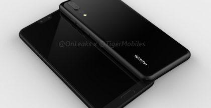 Huawei P20 OnLeaksin yhdessä Tiger Mobilesin julkaisemissa 3D-mallikuvissa. Tämä mallikuva on luotu mukana olevalla kotipainikkeella, jota ei kuitenkaan välttämättä P20:ssa nähdä.