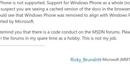 Microsoftin työntekijän viesti.