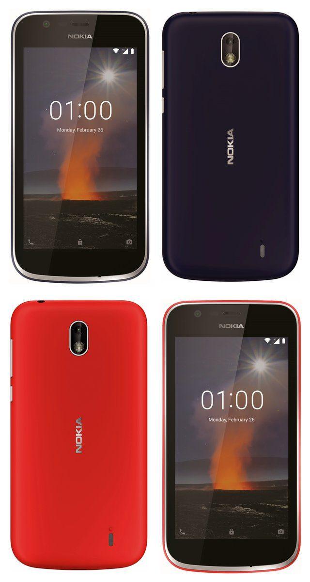 Nokia 1 Evan Blassin vuotamassa kuvassa.