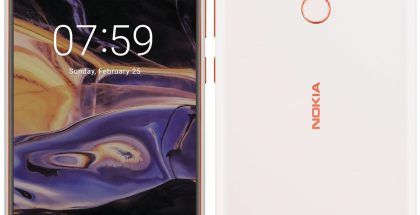 Nokia 7+ Evan Blassin vuotamassa kuvassa.