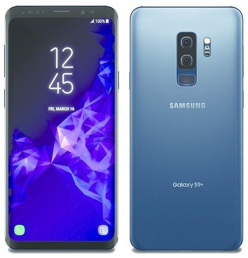 Samsung Galaxy S9+ Coral Blue -värissä Evan Blassin aiemmin vuotamassa kuvassa.