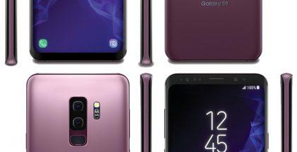 Samsung Galaxy S9 ja Galaxy S9+ uudessa Lilac Purple -värissä Evan Blassin aiemmin vuotamassa kuvassa.