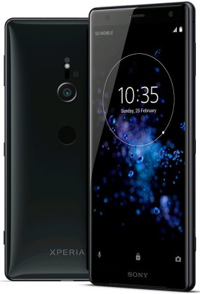 Sony Xperia XZ2 Evan Blassin vuotamassa kuvassa.