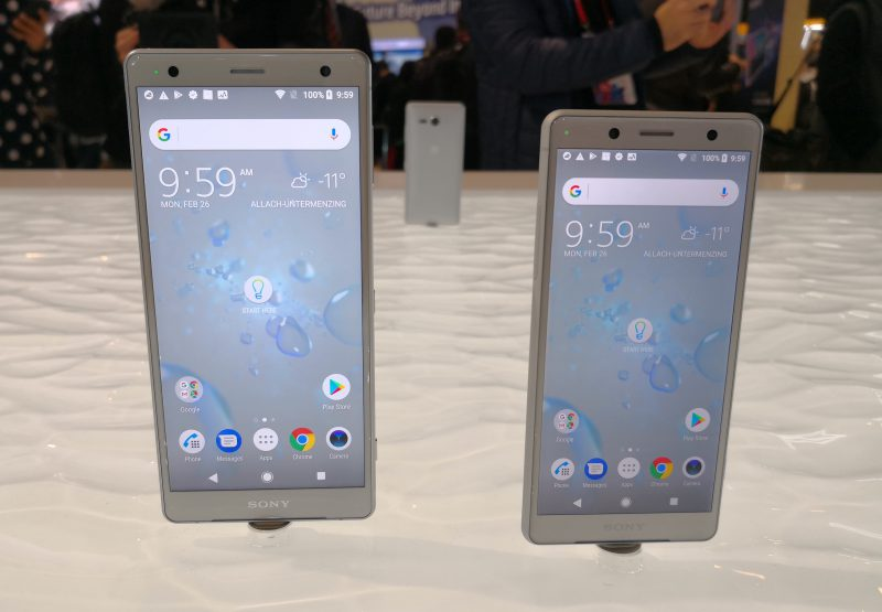 Sonyn älypuhelimallit Xperia XZ2 ja Xperia XZ2 Compact.