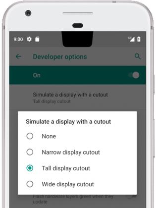 Android P tuo käyttöjärjestelmätasolle tuen näyttölovelle.