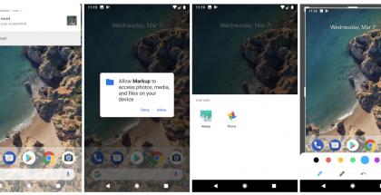Android P tuo Markup-toiminnon näyttökuvien muokkaamiseen. Kuvat: 9to5Google.