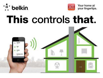 Wemo-älykotilaitteet kuuluvat Belkinin tuotevalikoimaan.