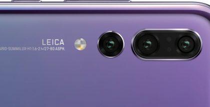 Huawei P20 Pro:n kolmoiskamera.