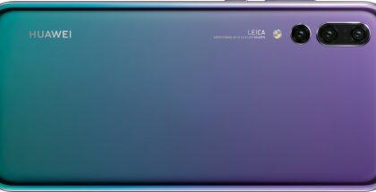 Huawei P20 Pron Twilight-väri.