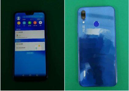 Huawei P20 Lite aiemmissa live-vuotokuvissa sinisenä.