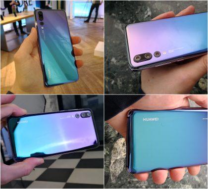 Huawei P20 Pro Twilight-värisenä.