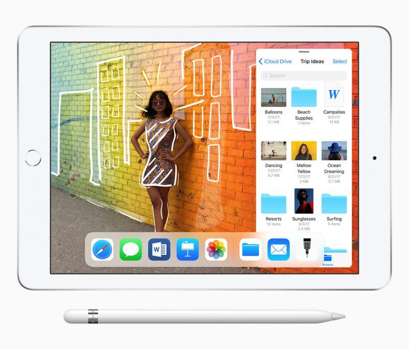 Apple lisäsi keväällä 2018 9,7-tuumaiseen iPadiin Apple Pencil -tuen.