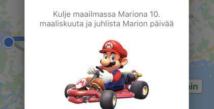 Mario ilmestyy Google Mapsiin.